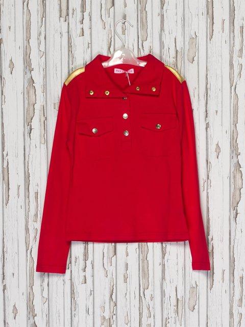 Джемпер красный Hoo Ponette 2275936
