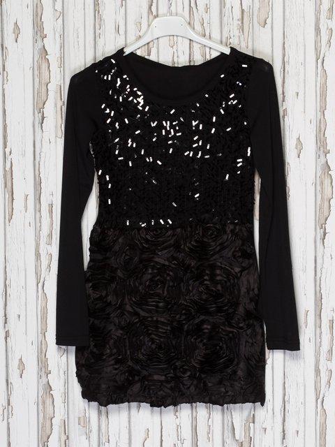 Сукня чорна з декором JIUBABA 1523930