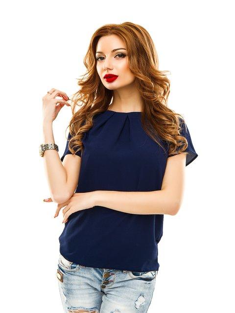 Блуза темно-синя Elegance Creation 2305437