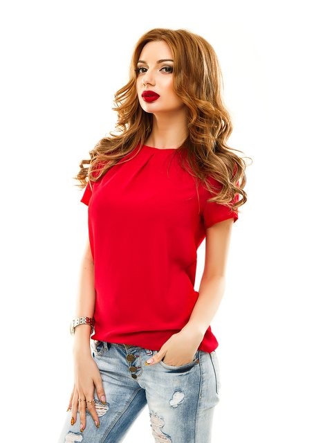 Блуза червона Elegance Creation 2305439