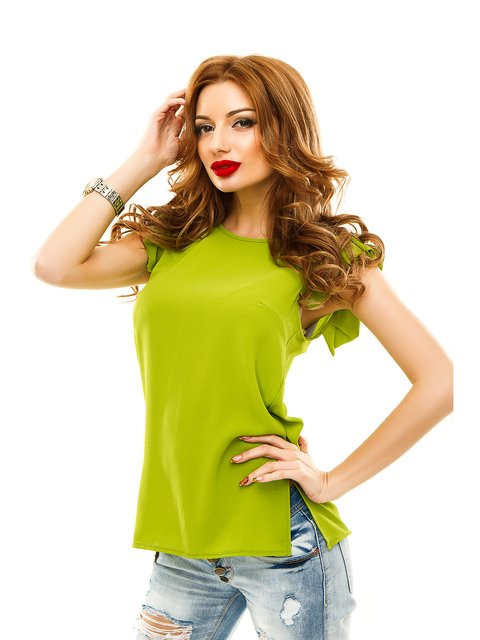 Блуза оливкового кольору Elegance Creation 2305453