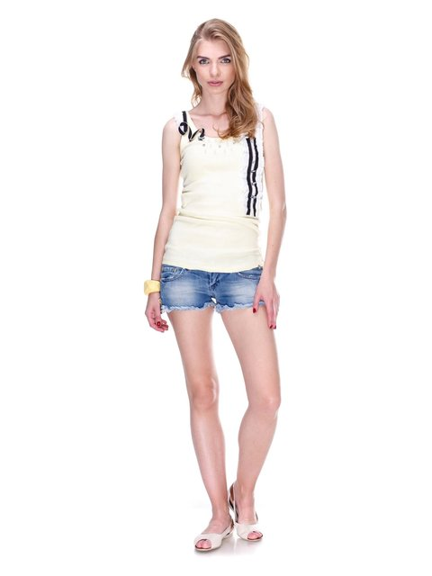 Шорты синие джинсовые с эффектом потертых JUST-R 2309216