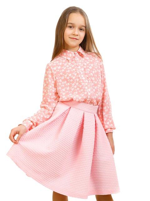 Блуза рожева в принт Kids Couture 2319019