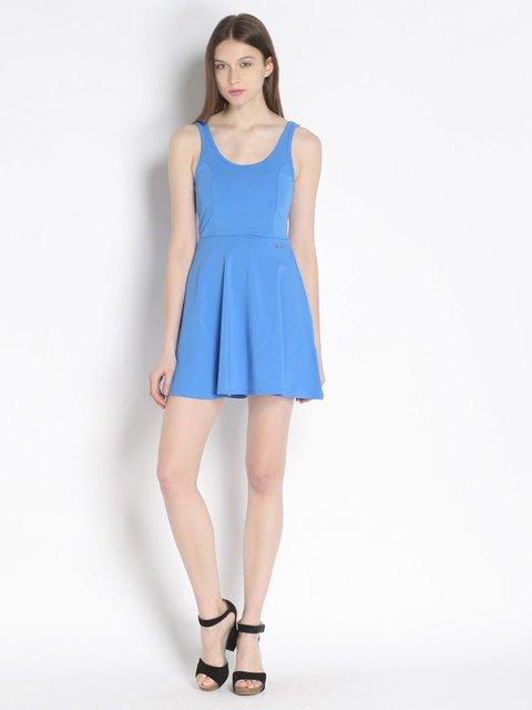 Платье голубое Maison espin 2243301