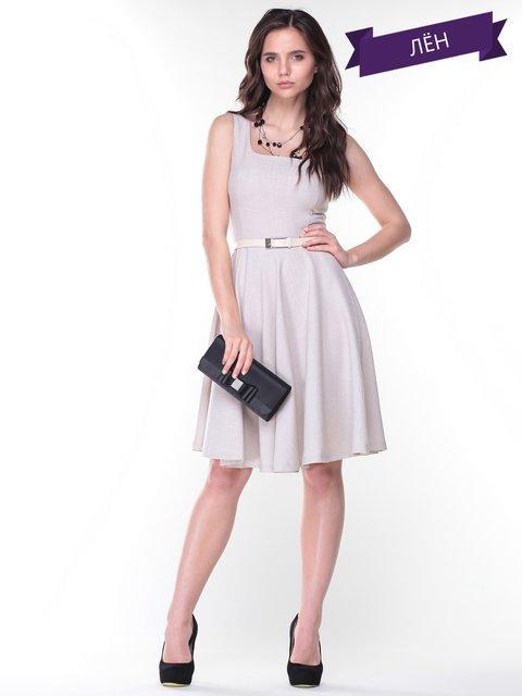 Платье светло-бежевое Maurini 2346475