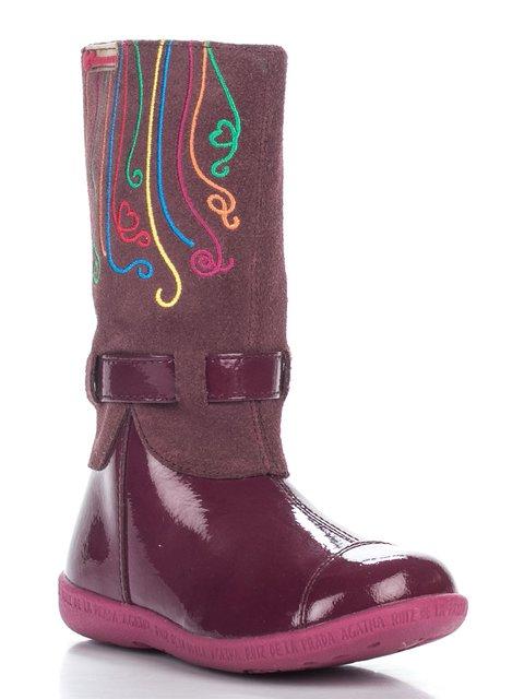 Сапоги бордовые с вышивкой Agatha Ruiz de la Prada 2361618
