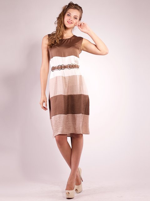 Платье цвета капучино Mila Nova 2385990