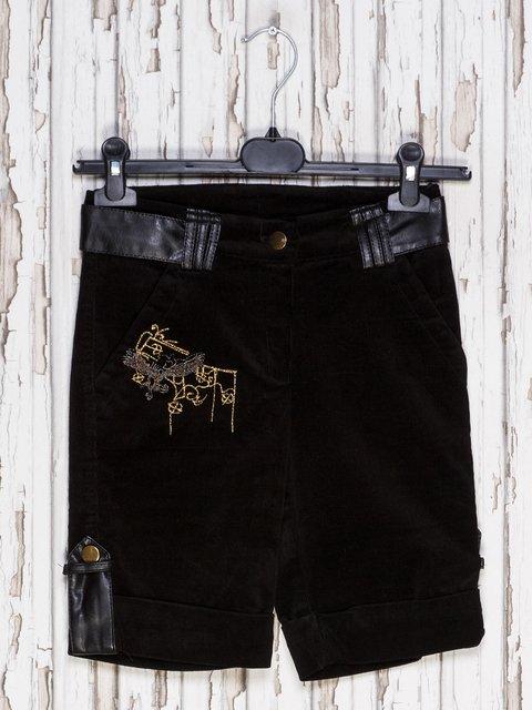 Капрі чорні з вишивкою DIREN 1601086