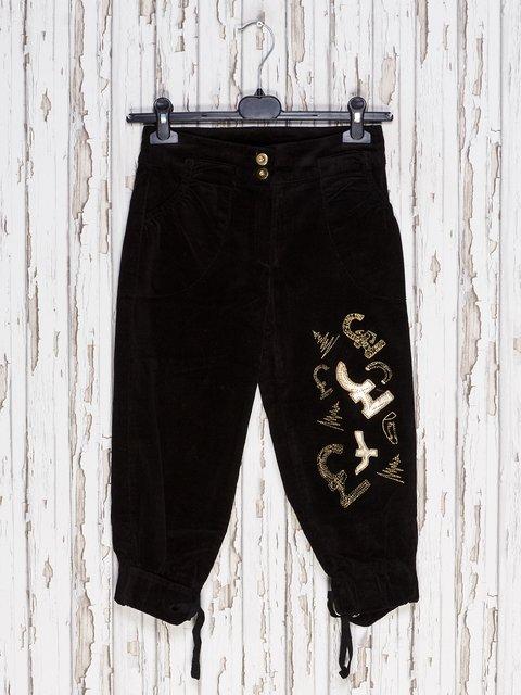 Капри черные с вышивкой DIREN 1590253