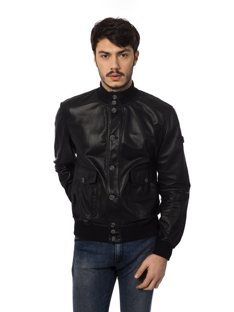 Куртка чорна Trussardi 2392611