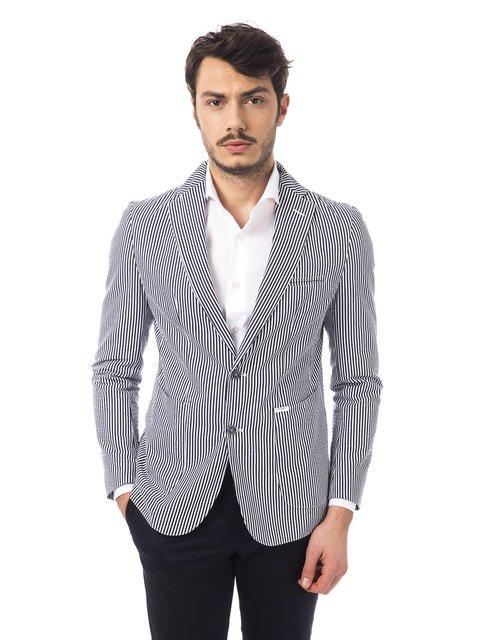 Піджак синьо-білий в смужку Trussardi 2392619