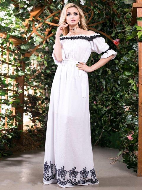 Сукня біла з вишивкою Seventeen 2401688