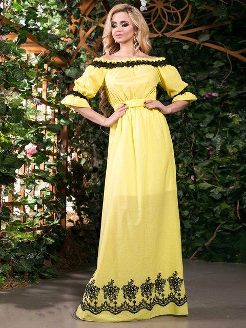 Сукня жовта з вишивкою Seventeen 2401689