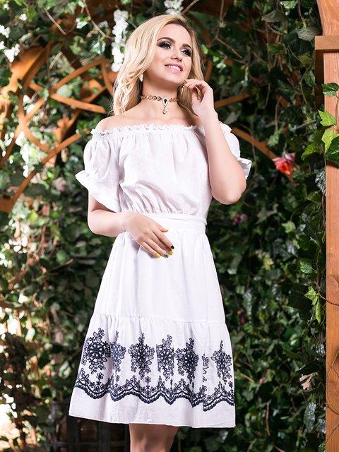 Сукня біла з вишивкою Seventeen 2401693