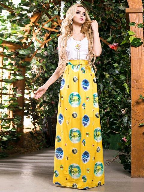 Сукня біло-жовта в принт Seventeen 2401703