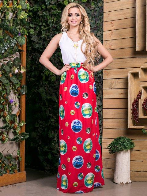 Сукня біло-червона в принт Seventeen 2401704