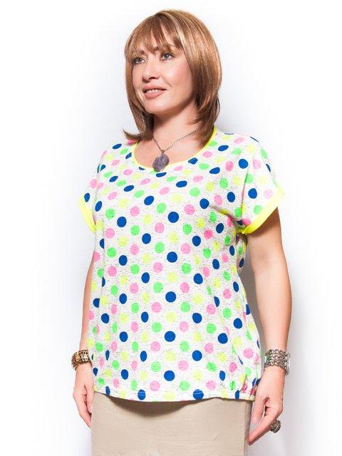 Блуза белая в горох LibeAmore 2409811