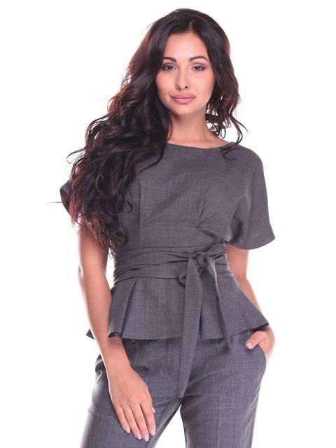 Блуза графітового кольору Laura Bettini 2434357