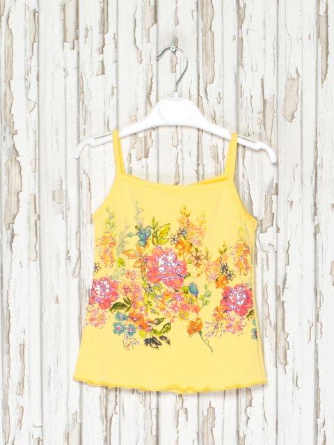 Майка желтая с цветочным принтом GIANRI YOUNG GUANG 2386905
