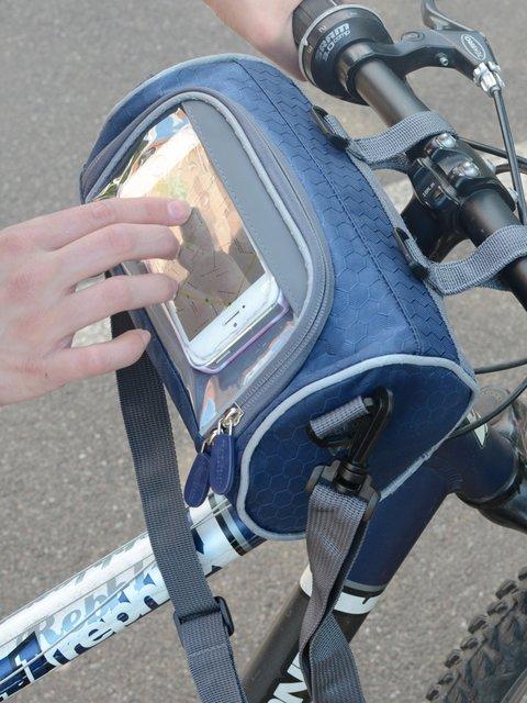 Сумка-велобагажник синяя Traum 2454154