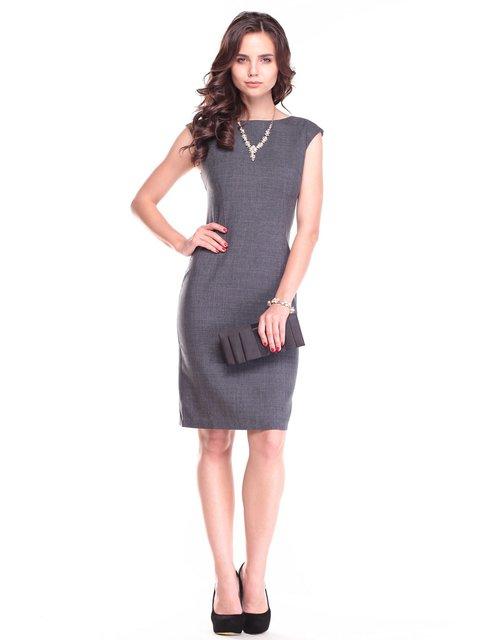 Платье графитового цвета Maurini 2461896