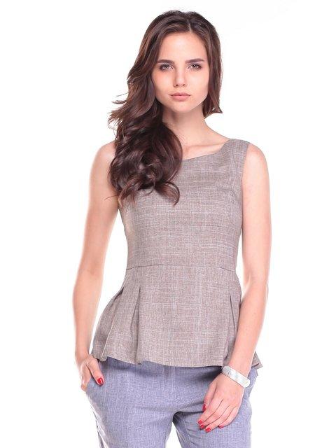 Блуза цвета мокко Maurini 2461903