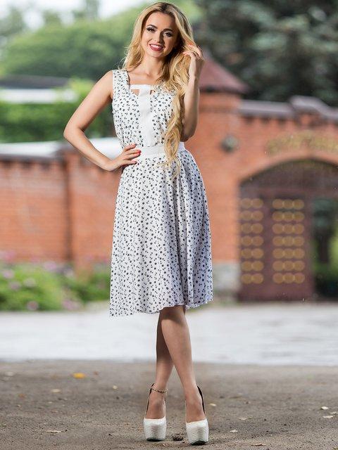 Платье белое в принт Seventeen 2468451
