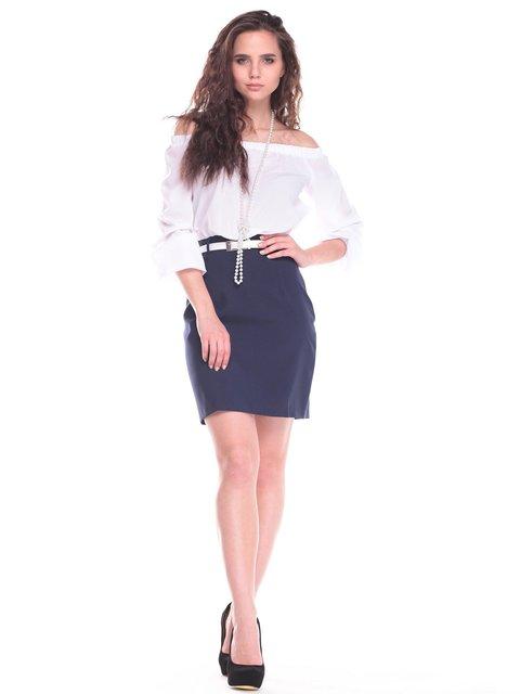 Платье бело-синего цвета Maurini 2434509