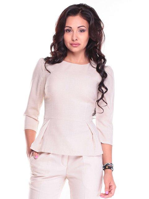 Блуза светло-бежевая Maurini 2484616