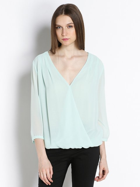 Блуза світло-блакитна Annarita N 2491096