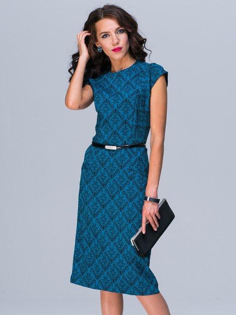 Платье бирюзовое с принтом Jet 2495627