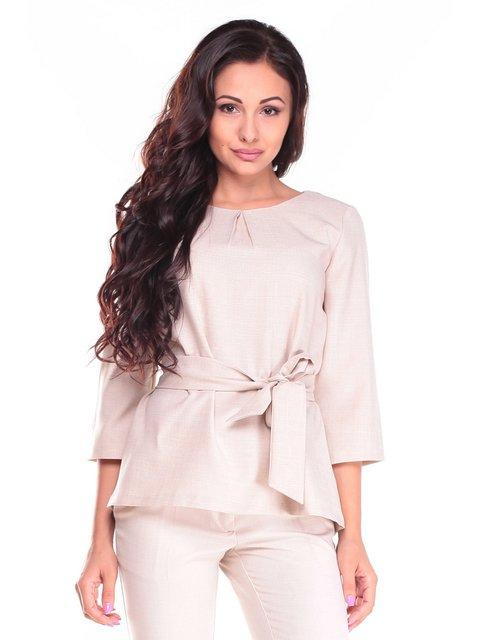 Блуза бежевая Rebecca Tatti 2495607