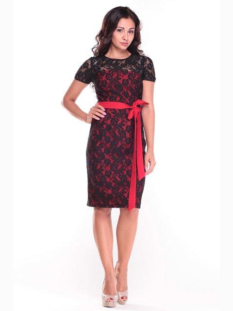 Сукня червоно-чорна Dioni 2472750