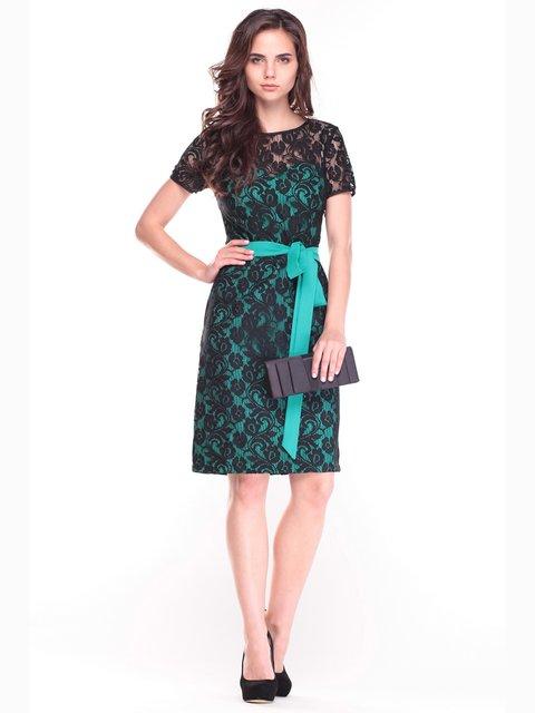 Платье зелено-черное Dioni 2472751