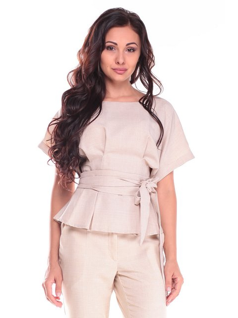 Блуза бежевая Laura Bettini 2528724