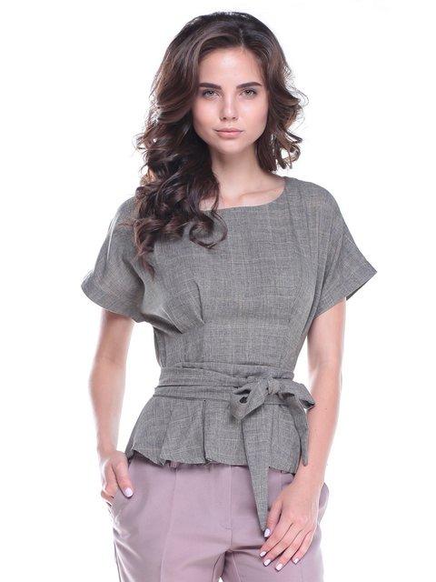Блуза цвета хаки Laura Bettini 2513711