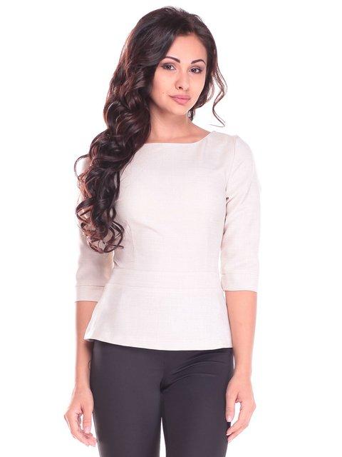 Блуза светло-бежевая Rebecca Tatti 2536492