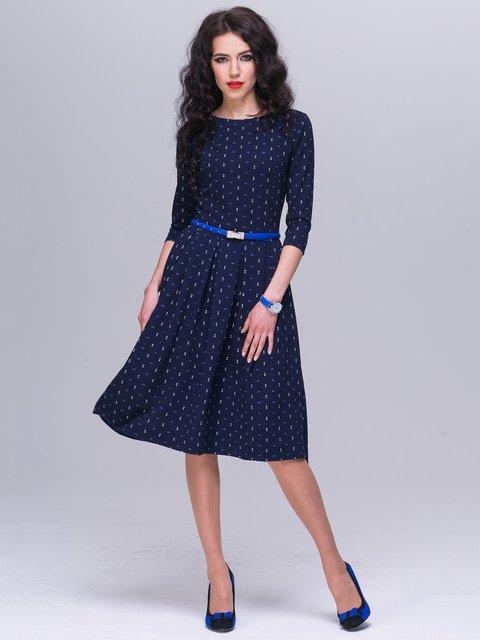 Платье синее в принт Jet 2542651