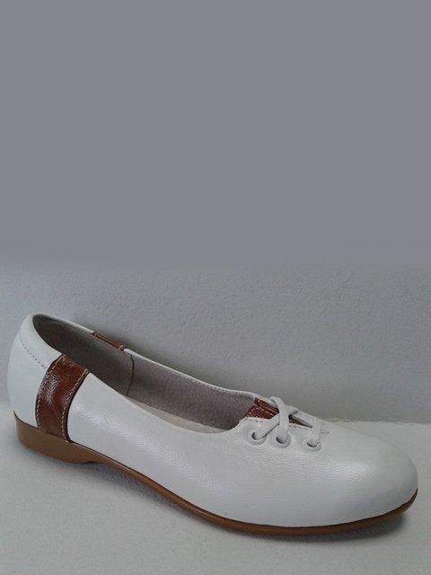 Балетки біло-коричневі Tops 2554880