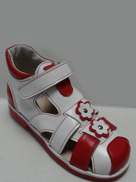 Босоножки бело-красные Tops 2554875