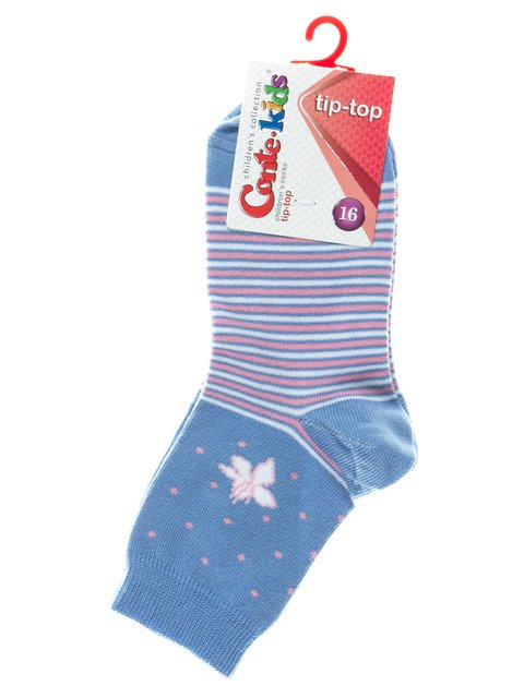 Носки голубые с комбинированным рисунком Conte Kids 2626383