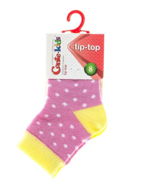 Шкарпетки двоколірні в грох Conte Kids 2626378