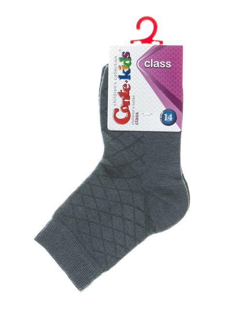 Носки темно-серые в ромбы Conte Kids 2625073