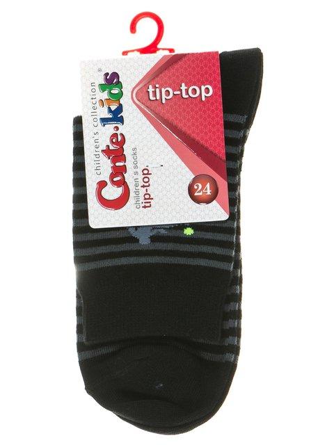 Носки черные с полосками и рисунком Conte Kids 2626373