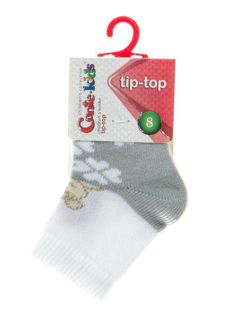 Носки серо-белые с рисунком Conte Kids 2626382