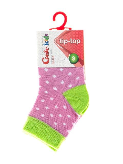 Шкарпетки двоколірні в грох Conte Kids 2626379