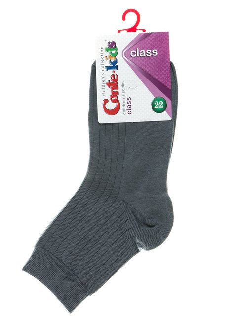 Шкарпетки темно-сірі в смужку Conte Kids 2625082