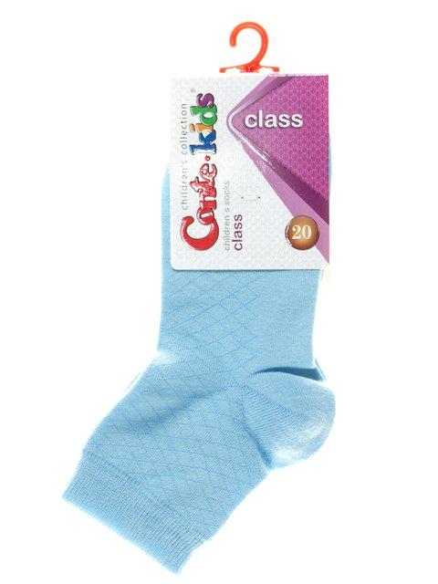 Носки голубые в ромбы Conte Kids 2625066
