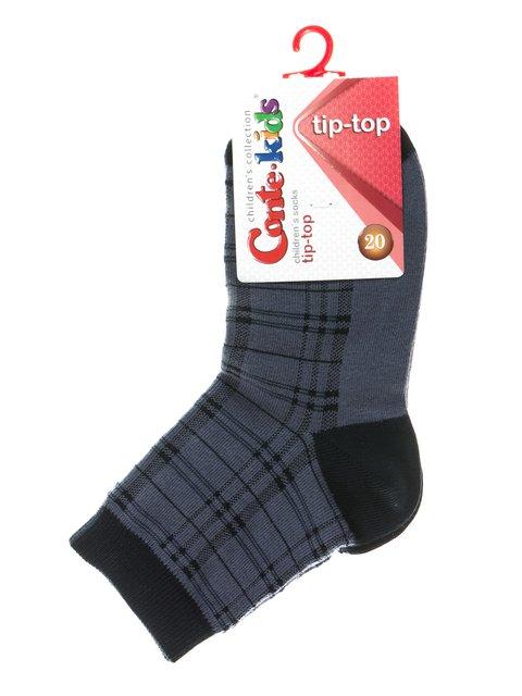 Шкарпетки сині в клітинку Conte Kids 2626365