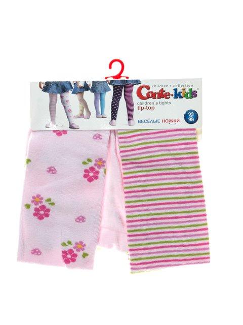 Колготки світло-рожеві в смужку і малюнки Conte Kids 2625777